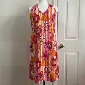 Vintage Yves Cossette Depeche Mode Floral Dress